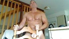 Sexy daddy fucks a fleshlight