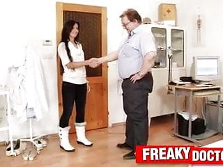 Cheerleader pussy exam clips - Tiny czech teen promesita pussy exam by daddy doctor