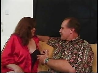 Mature hairy men having sex - Mature redhead gives two men a blowjob then gets fucked