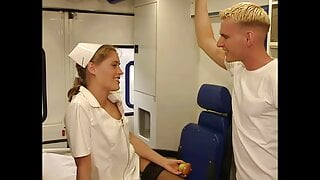 Slutty nurse Anja Juliette Laval, upscaled to 4K