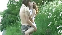 Young couple outdoor fuck