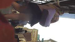 street candid - pawg upskirt