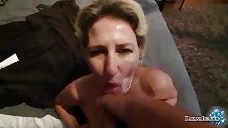 Slutty Lady Has Fun Fisting Both Holes and Sucks Cock
