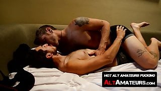 Hairy hipsters dick suck and fuck each other with pleasure