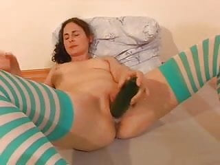 Cucumbers and latex allergy Wet and creamy cucumber orgasm