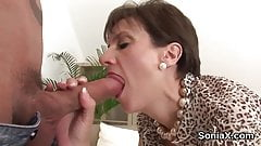 unfaithful english mature lady sonia flashes her enormous na