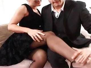 Nylons mature British slut louise in black ff stockings
