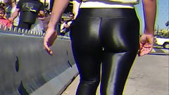 amazing wetlook leggings milf