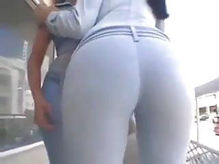 Women asses outdoors 2 perfekte runde aersche - 2 perfect round women asses