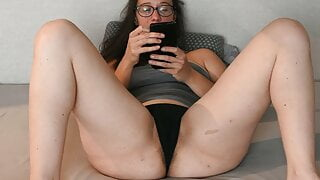 Watching porn and cumming