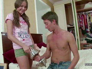 Lost virginity 22 - Brother seduce petite step-sister to lost virgin by his cock