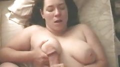 Busty Girl gets Titty Fucked then Creamed on her Neck!
