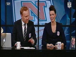Babe busty topless - Busty topless hostess on danish tv show