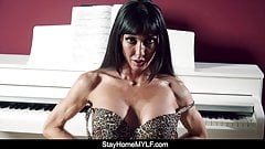 Mature Russian MILF Striptease and POV Blowjob and Fuck