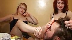 Three Mistress Get Slaved a Pathetic Boy