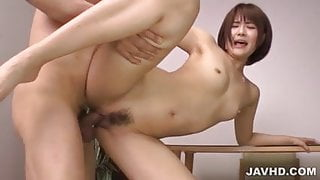 Saya Tachibana gets cock to stretch her bush in hardcore