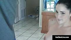 Hot Webcam Cutie Its Cleo Gives A Sloppy & Slippery Handjob!