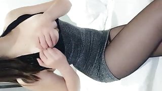 Horny Girl in black stockings get pounded hard