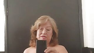 Out in a public bathroom! Mature bbw Latina woman hairy puss