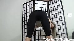 I think these new yoga pants are super hot JOI