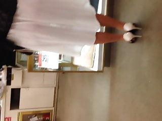 See thru boob The best see thru white ass in white dress