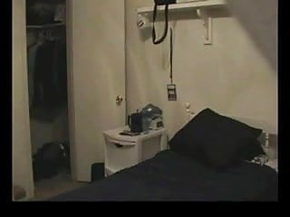 Amateur cam guy Guy is caught by a spy cam in the room.