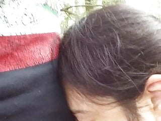 Cock sucking dog Cheating latina wife sucking cock in woods at rest area prt2