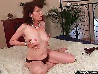 Man with hairy face Hairy grannies unload a cock on their face and tits