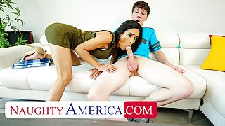 Naughty America - Recently divorced MILF fucks son's friend