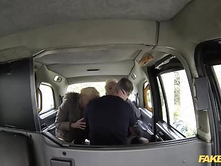 London swinger - Fake taxi anal threesome in london cab