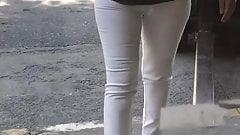 turkish milf tight white jean