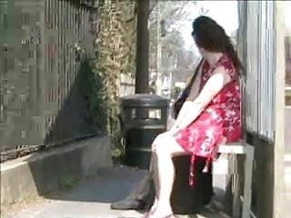 Flashing piss uk Two ladies flashing in a uk bus stop