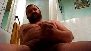 big bear jerking in the washroom