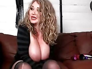 Hiding large breasts Beautiful blonde dumped large breasts and talks