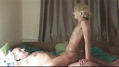 Hot Slender Blonde Sucks and Fucks