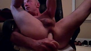 computer chair butthole play