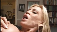 A gorgeous blonde milf gets her pink butthole banged bya stud