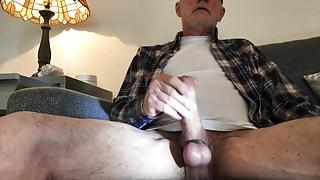 Man alone at home