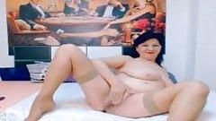 Mature boobs webcam show