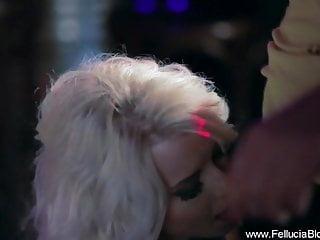 Adult cougar club - Blonde sucks cock at the club