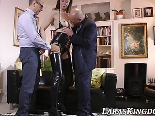 Amateur smooth hung boys Classy english lady spitroasted by hubby and hung mature boy