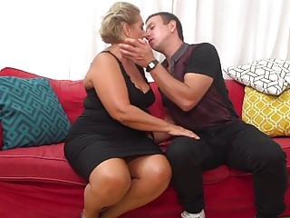 Mature lady fuckers Tanned gilf seduce young lucky granny fucker