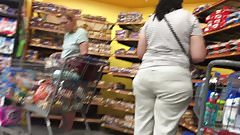 Indian or Arab Milf with wide butt in khakis