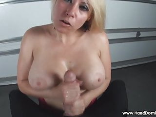 Mock his small penis - Verbal humiliation of small penis by busty blonde milf