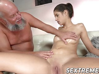Young bunnie pussy Young bunny love fingering before riding old cock