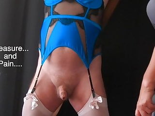 Crossdressing sissy cum mistress slave Pleasure pain - femdom mistress cbt session with sissy slave