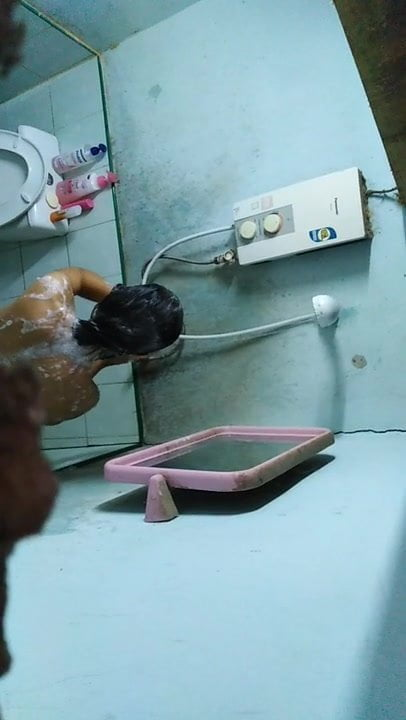 Thipawan in the shower