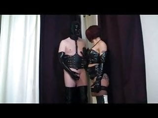 Latex slave porn Silke maiden and her latex-slave