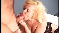 Vintage - Busty Old Slut fucked by 2 guys