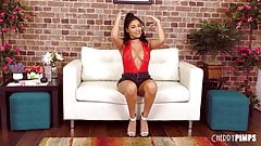 Spicy Teen Latina With Big Tits Solo Masturbating With Toys
